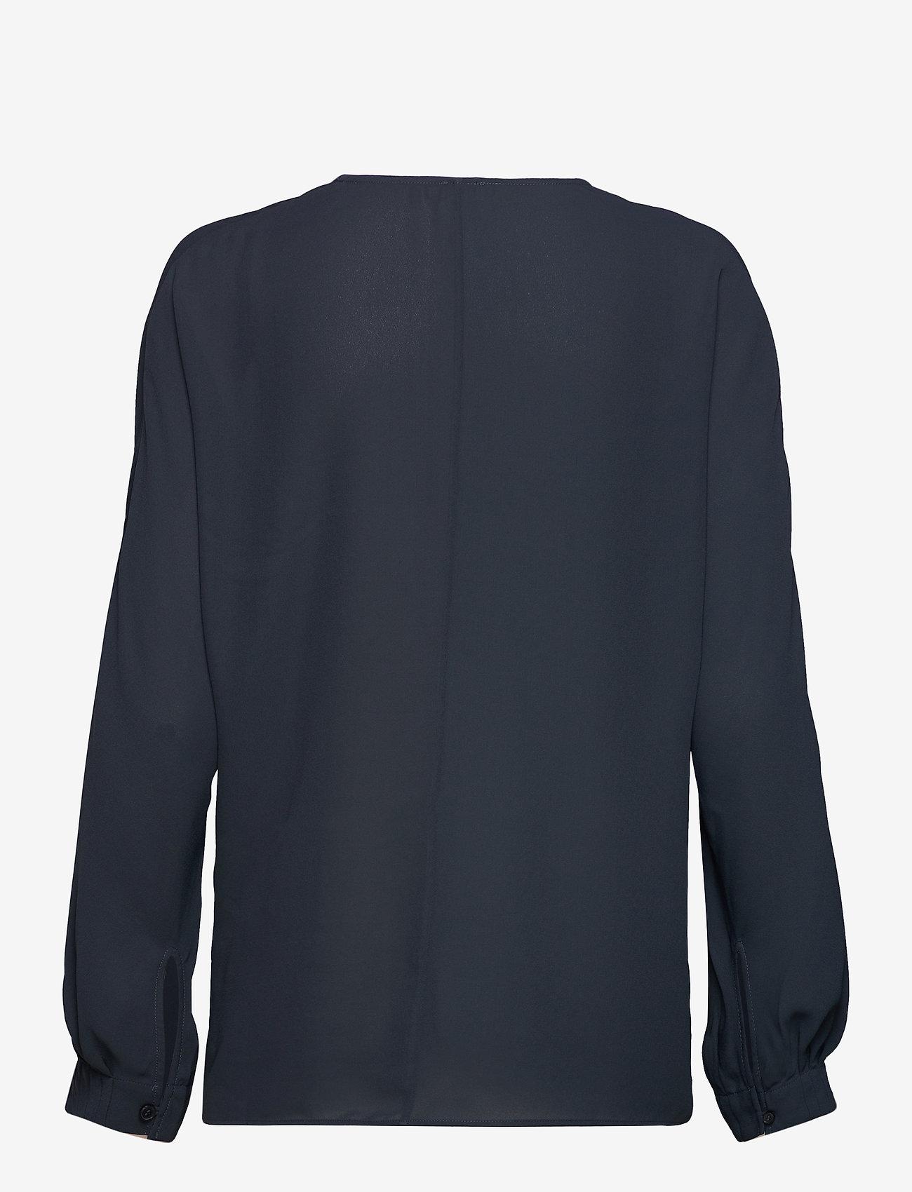 Filippa K - Riley Blouse - long sleeved blouses - pacific bl - 1