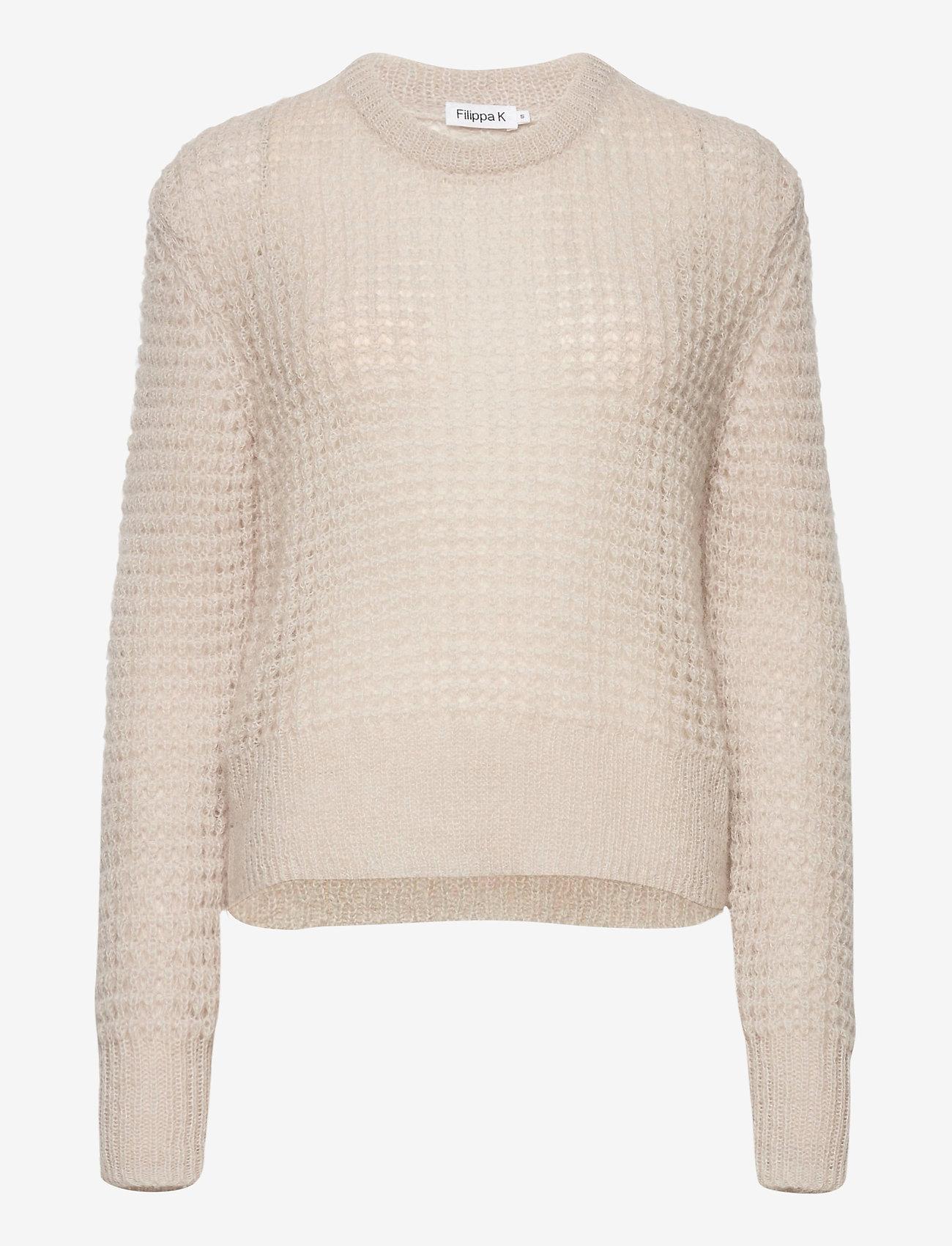 Filippa K - Helen Mohair Sweater - tröjor - ivory - 0