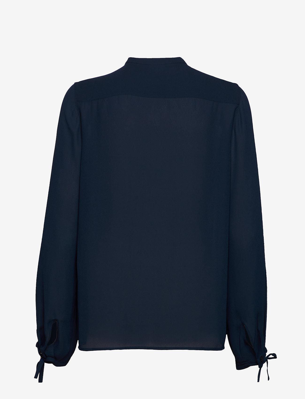 Filippa K - Gia Blouse - långärmade blusar - dark blue - 1