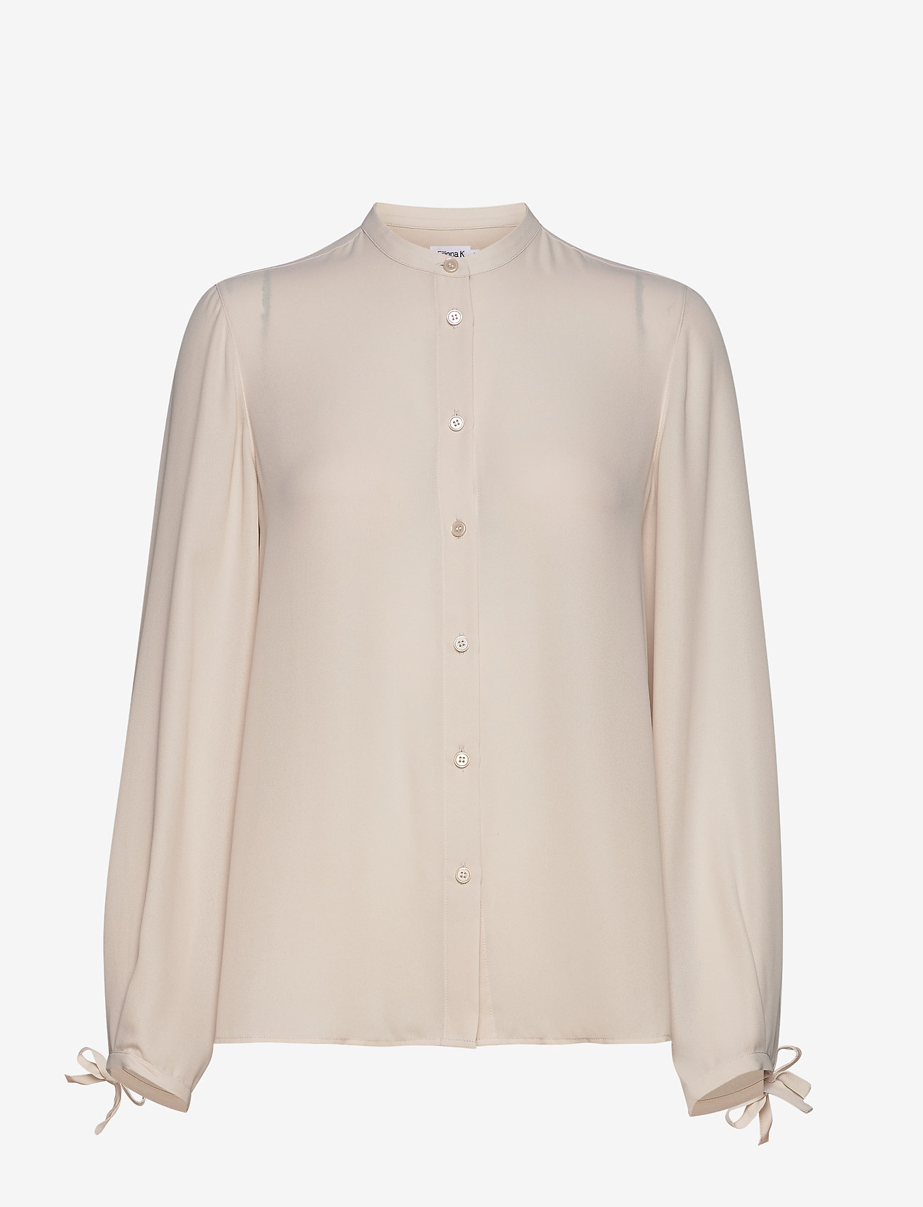 Filippa K - Gia Blouse - long sleeved blouses - ivory - 0