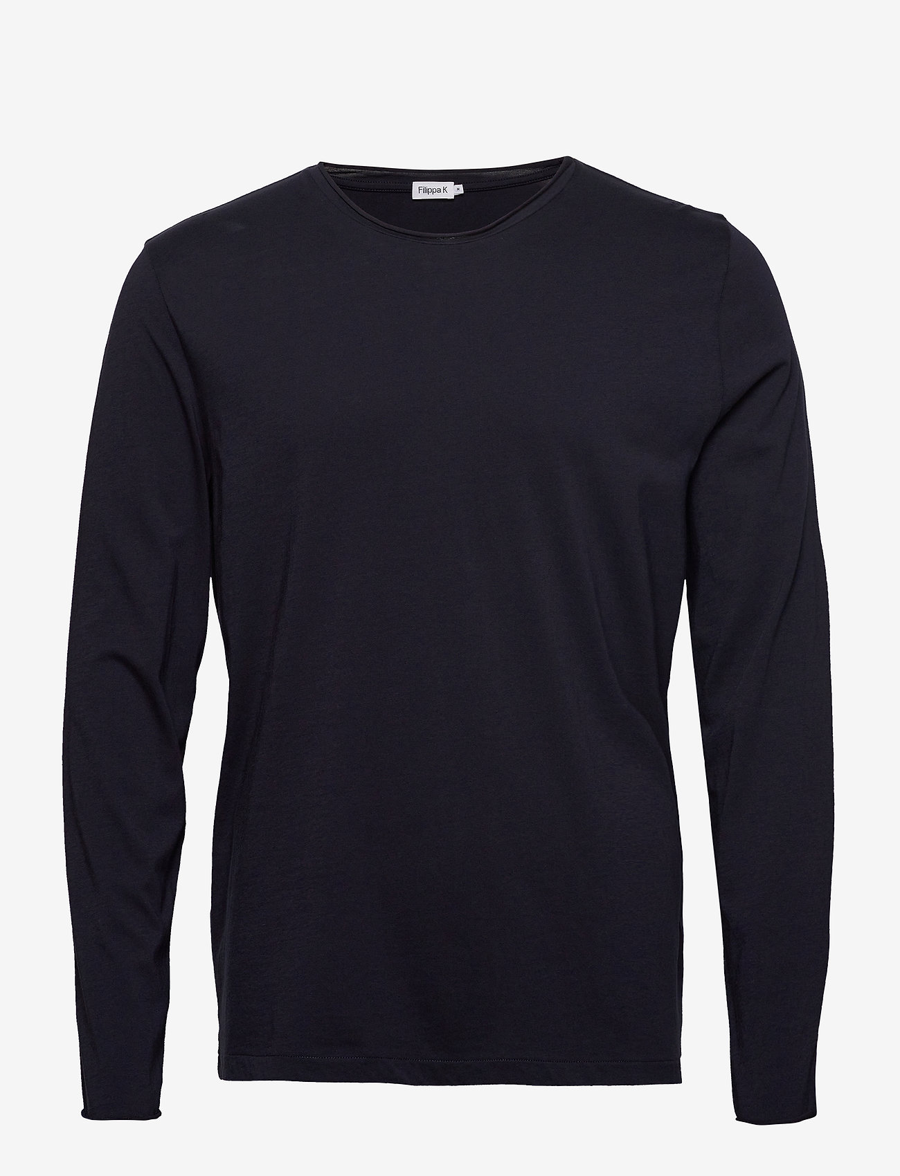 Filippa K - M. Roll Neck Longsleeve - basis-t-skjorter - navy - 0