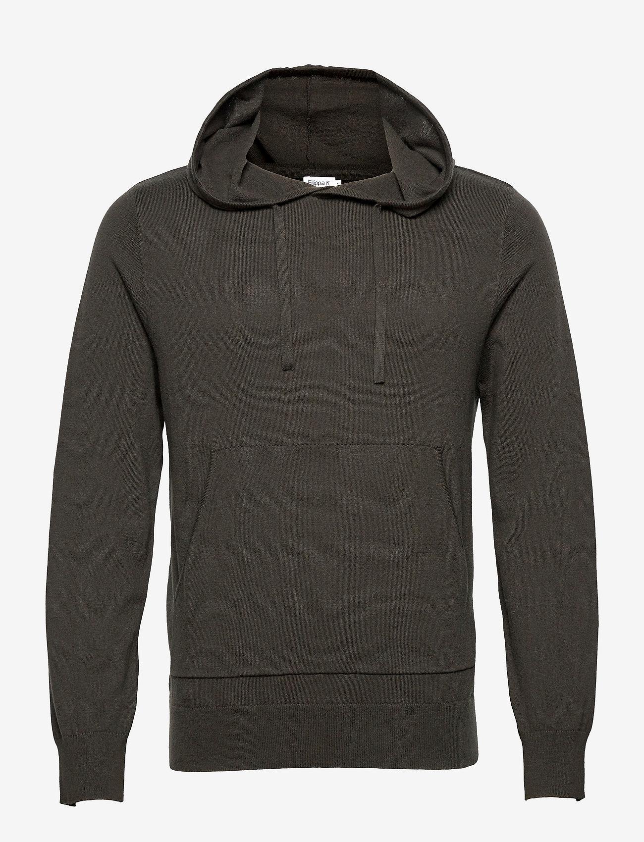 Filippa K - M. Arthur Knitted Hoodie - hoodies - beluga - 0