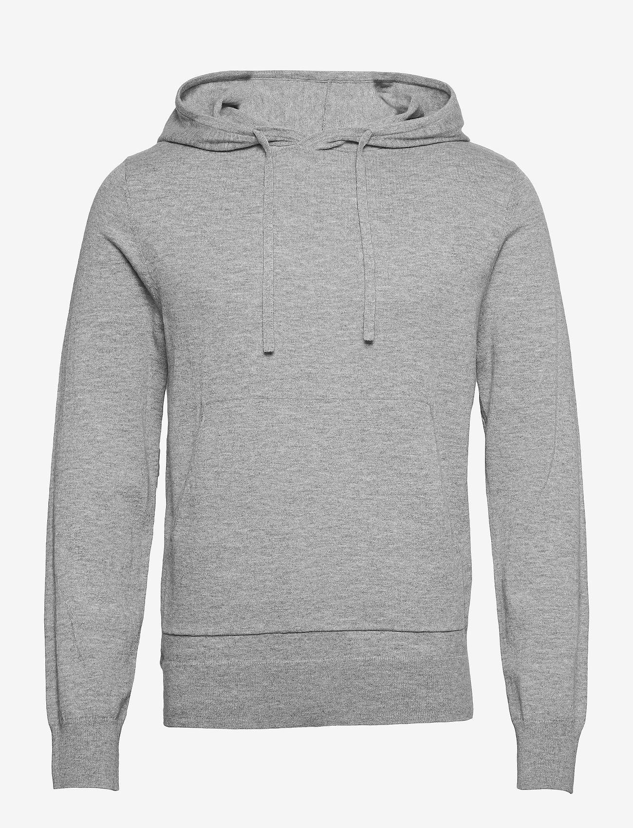 Filippa K - M. Arthur Knitted Hoodie - hoodies - light grey - 0