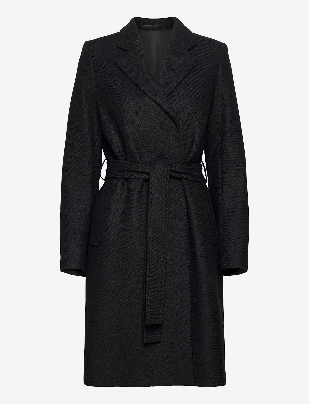 Filippa K - Kaya Coat - ullkappor - black - 0