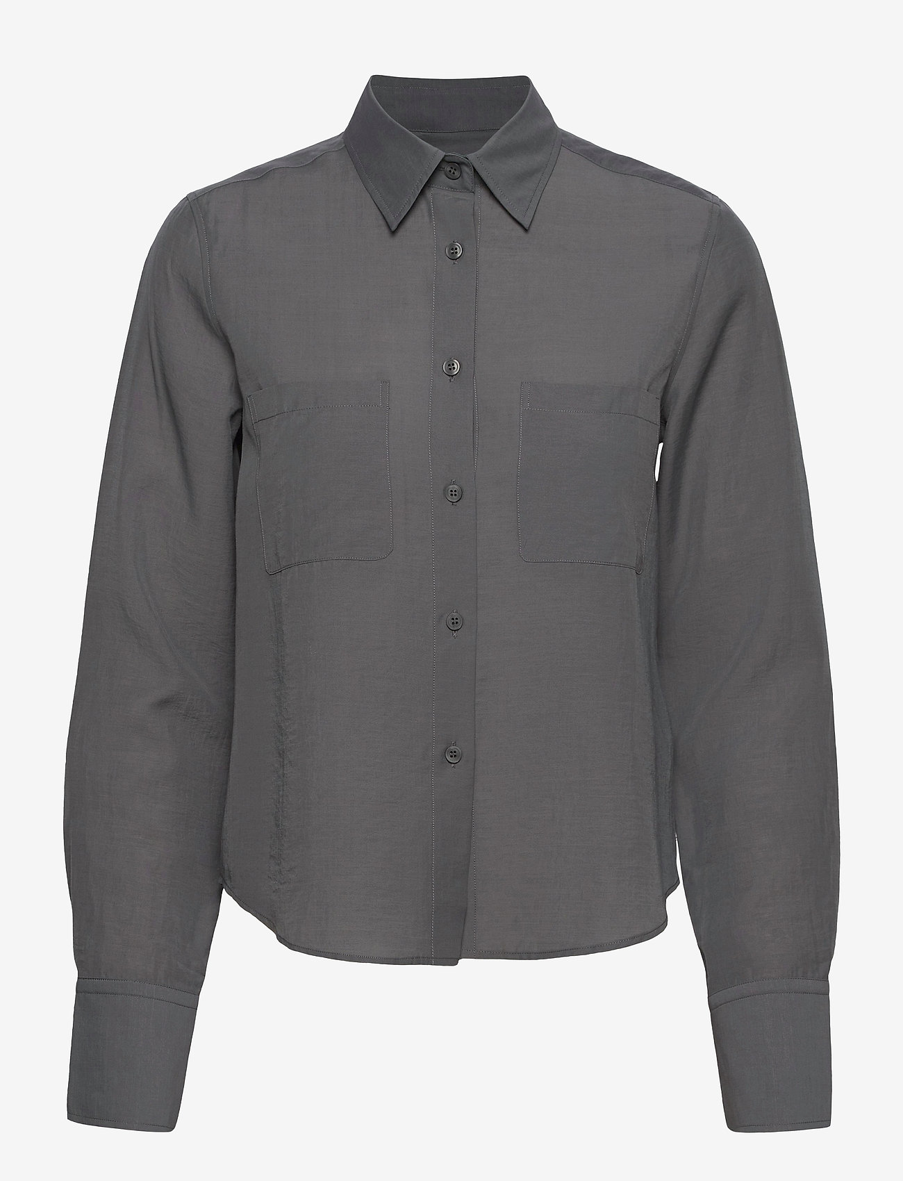 Filippa K - Helena Shirt - long-sleeved shirts - metal - 0