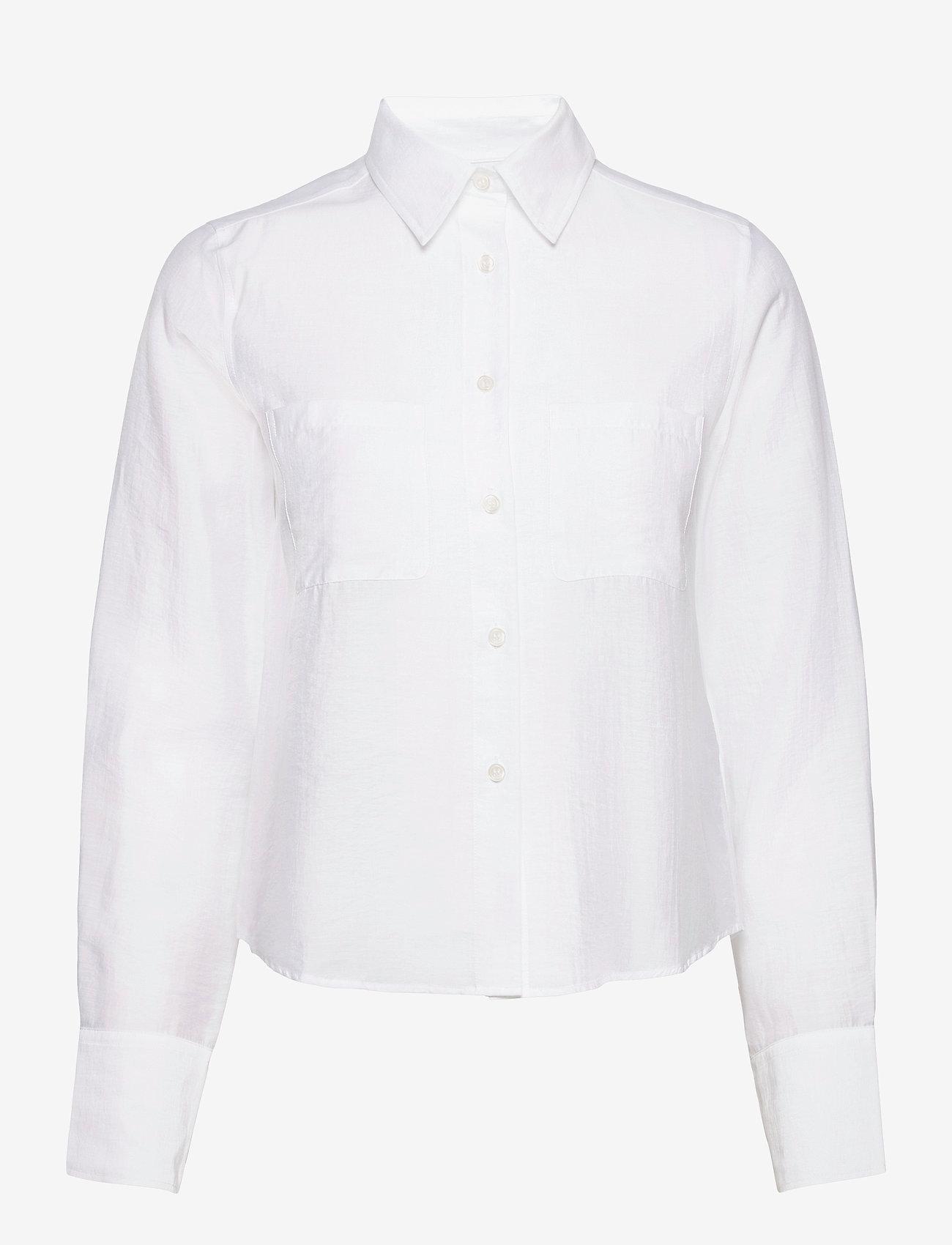 Filippa K - Helena Shirt - denim shirts - white chal - 0