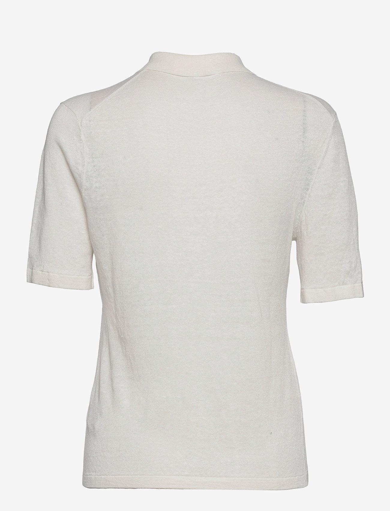Filippa K - Angeline Knit Top - strikkede toppe - white chal - 1