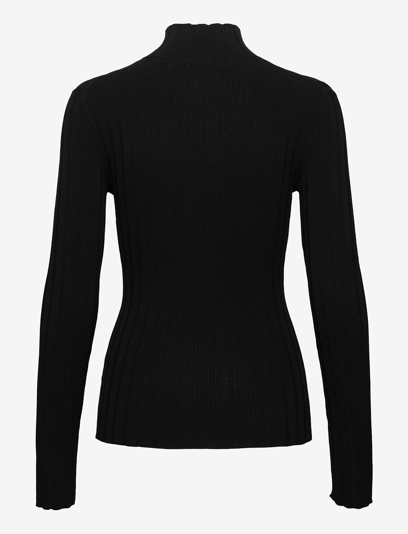Filippa K - Linnea Knit Top - turtlenecks - black - 1