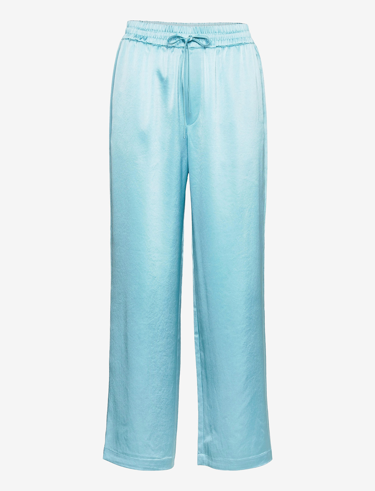 Filippa K - Hayley Satin Trouser - bukser med brede ben - turquoise - 0