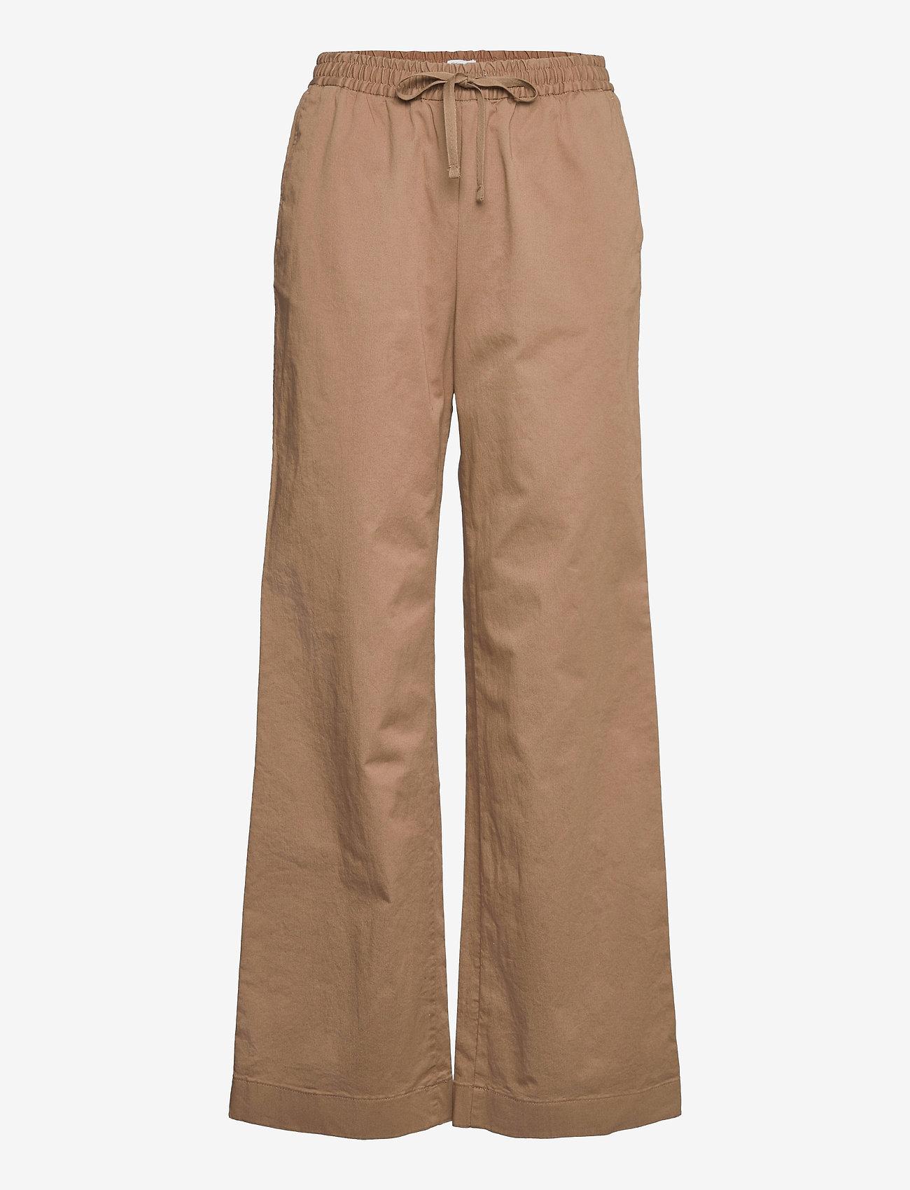 Filippa K - Gillian Trouser - bukser med brede ben - muddy brow - 0