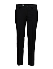 Luisa Cropped Cool Wool Slacks - BLACK