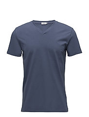 M. Soft Lycra V-Neck Tee - COASTAL