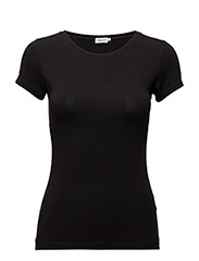 Fine Lycra T-Shirt - BLACK