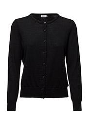 Merino Short Cardi - BLACK