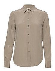 Classic Silk Shirt - GREY TAUPE