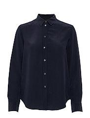 Classic Silk Shirt - NAVY