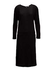 Drapey Tencel Split Dress - BLACK