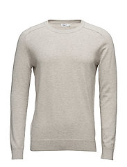M. Cotton Merino Sweater - MUD MEL.