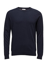 M. Cotton Merino Sweater - NAVY