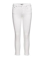 Debbie Cropped Jeans - WHITE