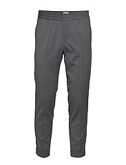 M. Terry Gabardine Pants - GREY MEL.