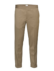 M. Terry Gabardine Pants - GREY TAUPE