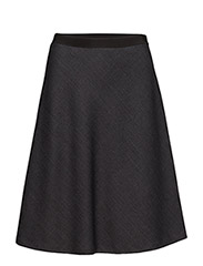 Bias Cut Skirt - GREY MEL.