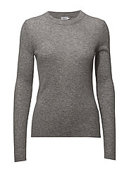 Slim Rib Knit Top - GREY MEL.