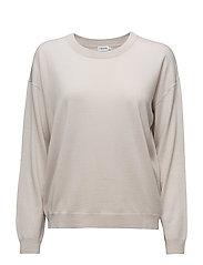 Merino R-neck Pullover - OYSTER