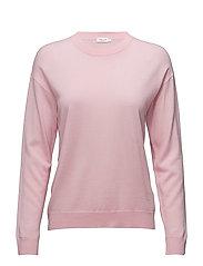 Merino R-neck Pullover - ROSE BUD