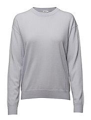 Merino R-neck Pullover - SKYLIGHT