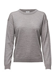 Merino R-neck Pullover - LIGHT GREY