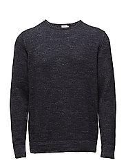 M. Cotton Slub Sweater - NAVY MEL.