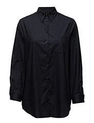 Cotton Button Down Shirt - NAVY