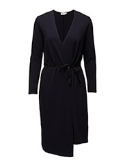 Jersey Wrap Dress - NAVY
