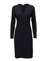 Jersey Split Dress - NAVY