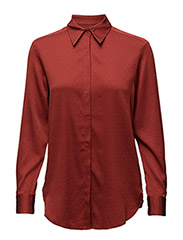 Silk Stud Shirt - RED RUST