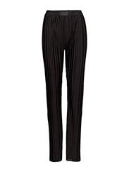 Drapey Pliss Pants - BLACK