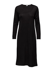 Drape Jersey Dress - BLACK