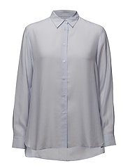 High-low Tencel Shirt - SKYLIGHT