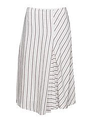 Irregular Striped Skirt - OFFWHITE/M