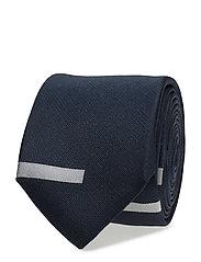 M. Block Tie - NAVY/WHITE
