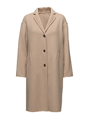 Parker Double Face Wool Coat - DARK DUNE