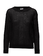 Delicate Mohair Pullover - BLACK