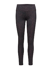 Printed Leggings - RAISIN/NIG