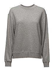 Drapey Sweatshirt - LIGHT GREY