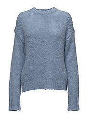 Structure R-neck Pullover - DEEP SEA