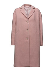 Parker Plush Wool Coat - POWDER PIN
