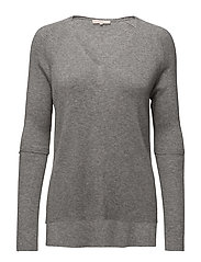 Knit Warm-up Rib Top - GREY MEL.