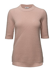 Wool/Cashmere Rib T-shirt - TEAROSE